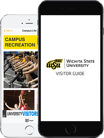 Visit Wichita App on 2 iPhones