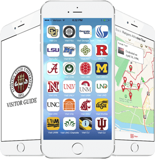 Phones with multiple Visitor Guide Apps