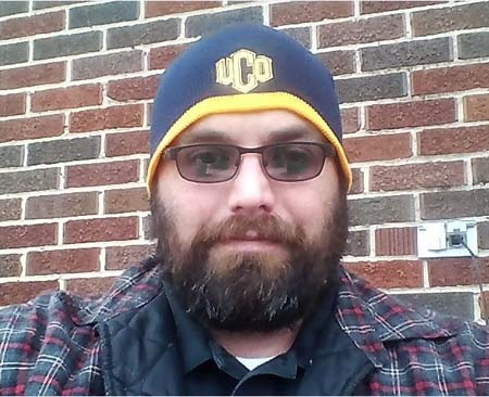 David Courtright, UCO student, sitting outside the union