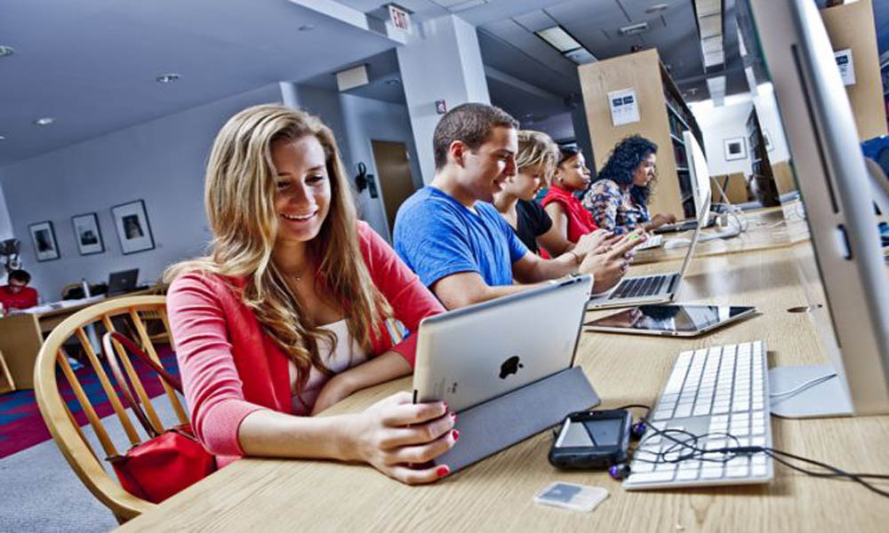 Students on devices