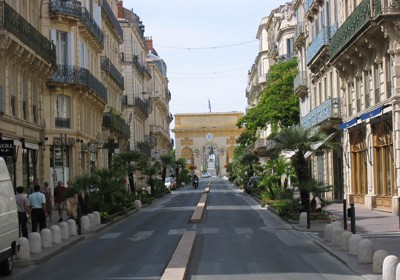 Streets of Montpellier France