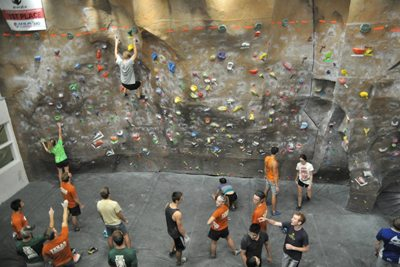UT Austin climbing wall