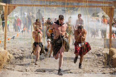 running a tough mudder race