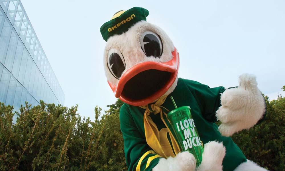 Oregon Duck mascot