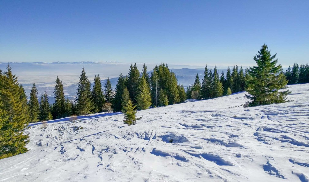 Skiing Vitosha Mountain