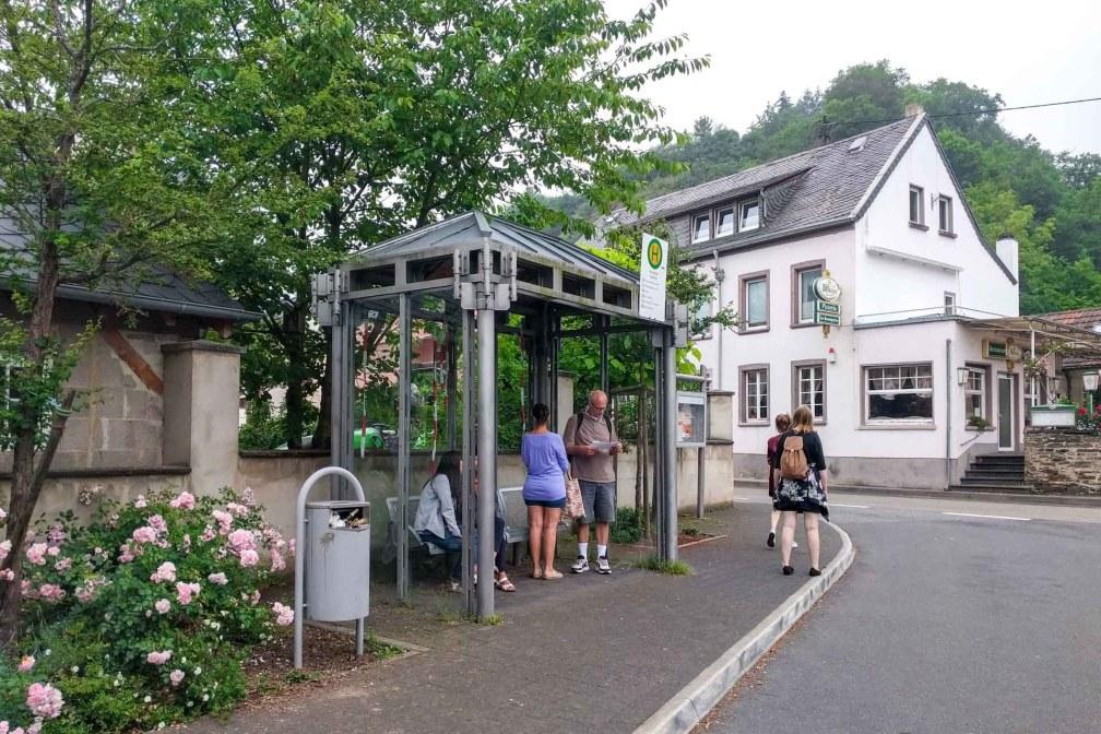 The 330 bus stop to Eltz