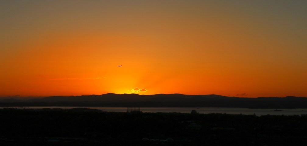 sunset at Calton Hill