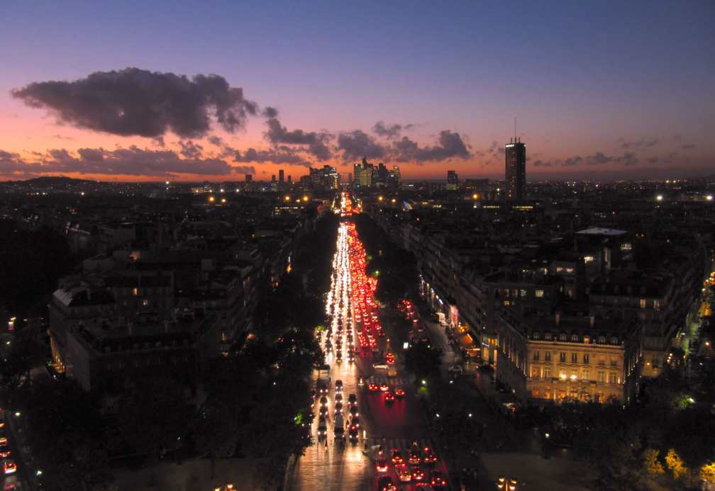 View from Triumphal Arch