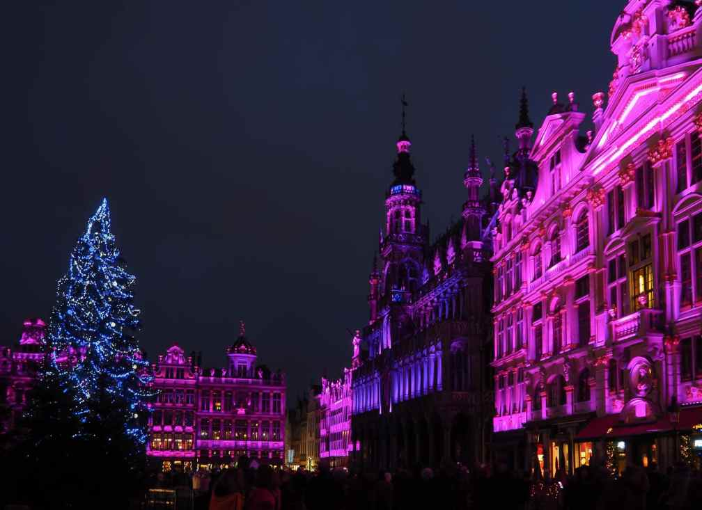 Brussels sound and light show