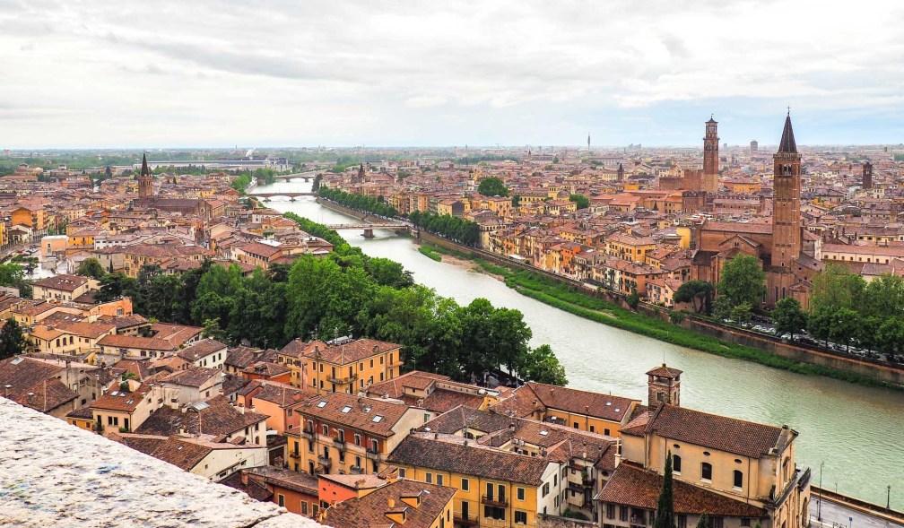 Piazzale Castel San Pietro view