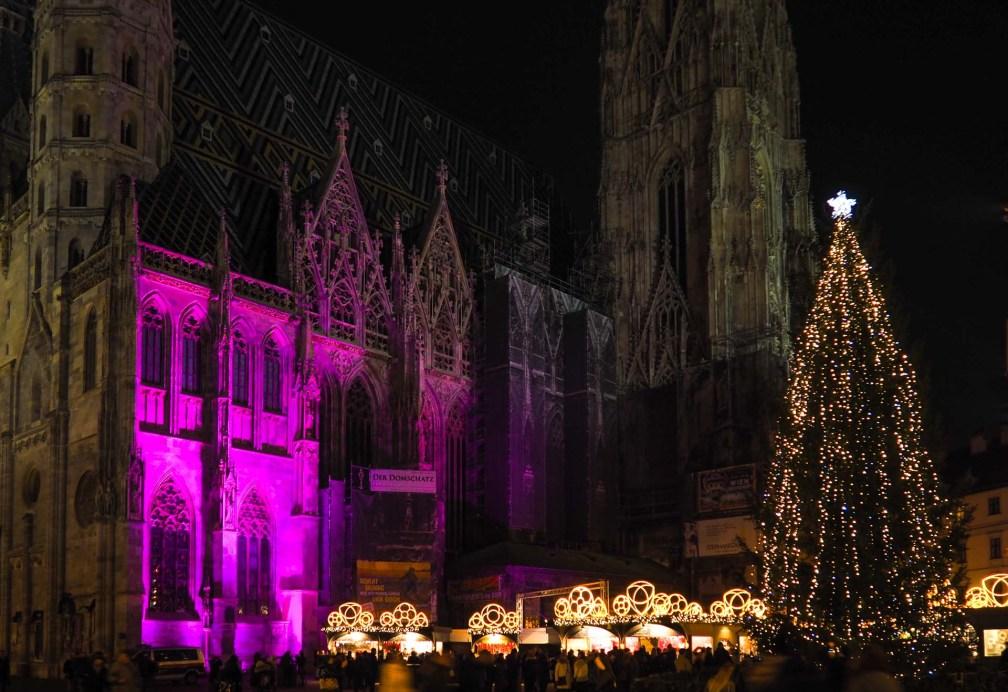 Рождественский базар Stephansplatz рождественские рынки в Вене Лучшие рождественские рынки в Вене vienna christmas market stephansplatz
