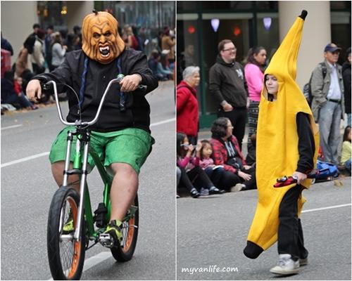 blogpumpkin and bananaVanHalliweenParade