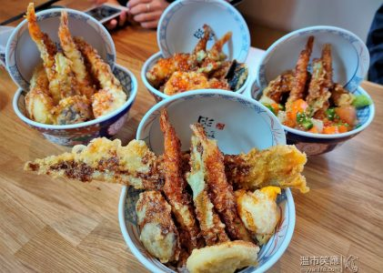 溫哥華美食|橫掃東南亞的日式天婦羅蓋飯:琥珀天丼