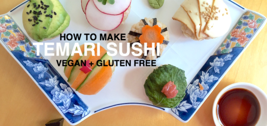 Vegan and glutenfree Temari Sushi