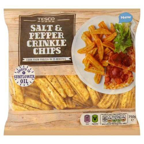 Tesco Salt And Pepper Crinkle Chips 750G