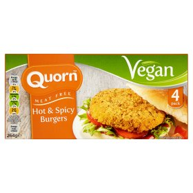 Quorn Meat Free Vegan 4 Hot & Spicy Burgers
