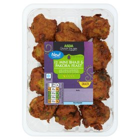 asda chosen by you 12 mini bhaji pakora feast my vegan. Black Bedroom Furniture Sets. Home Design Ideas
