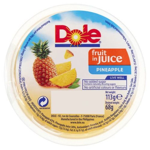 Dole Pineapple In Juice 113G