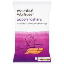 essential Waitrose bacon rashers 100g