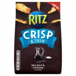 Ritz Crisp & Thin Salt & Vinegar 100g