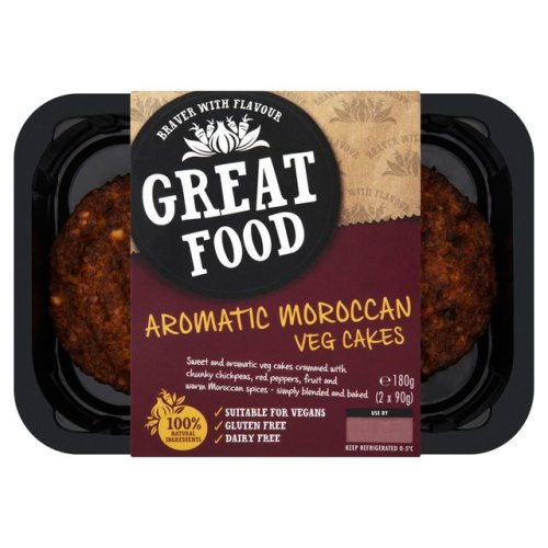 Great Food Moroccan Vegetable Cakes 180g