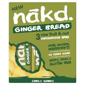 Nakd Ginger Bread Raw Fruit & Nut Wholefood Bars