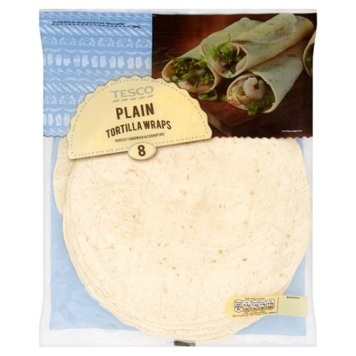 Tesco 8 Plain Tortilla Wraps