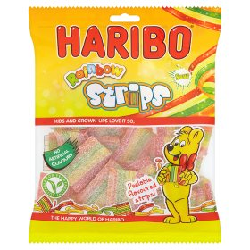 Haribo Rainbow Strips Sour