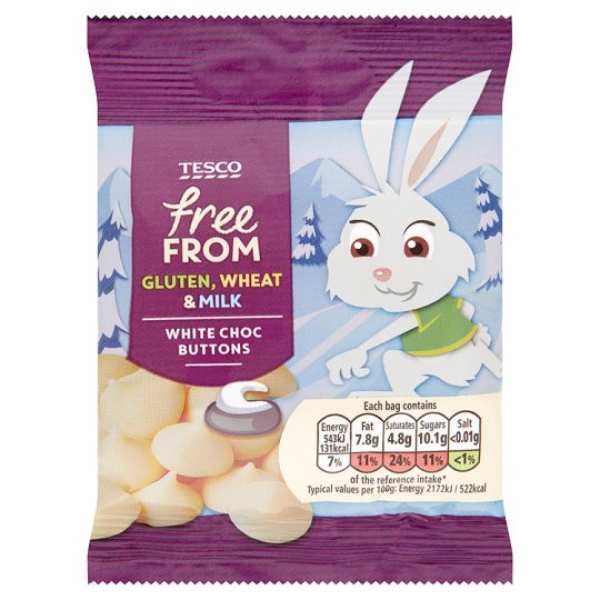 Free From White Chocolate Buttons 25g My Vegan Supermarket