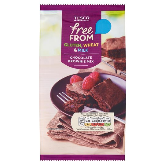 Tesco Gluten And Dairy Free Chocolate Brownie Mix 284g My