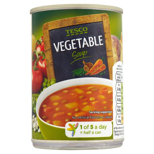 Tesco Vegetable Soup 400g My Vegan Supermarket