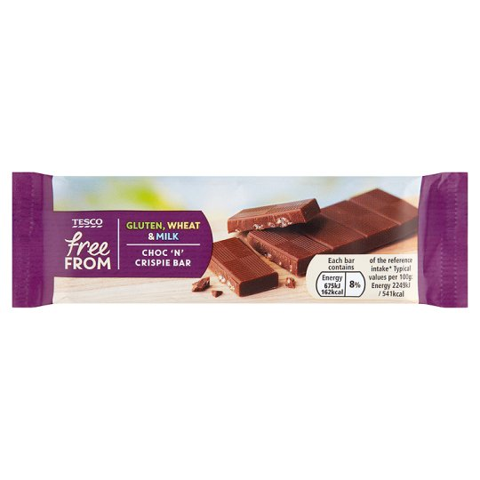 Tesco Free From Chocolate Crispie Bar 30g My Vegan