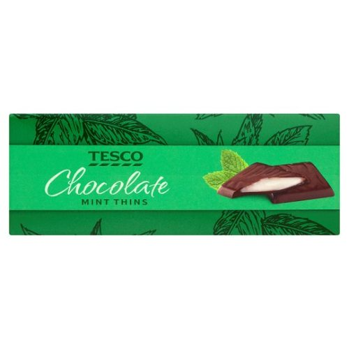 Tesco Dark Chocolate Mint Thins Carton 200G