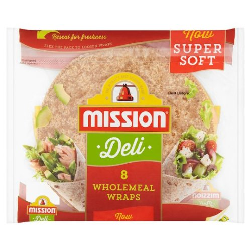 Mission Deli. Wraps Wholemeal 8 Pack