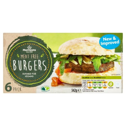 Morrisons Meat Free Burgers 342g