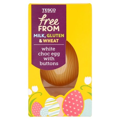 Tesco Free From White Chocolate Egg With Buttons 65G