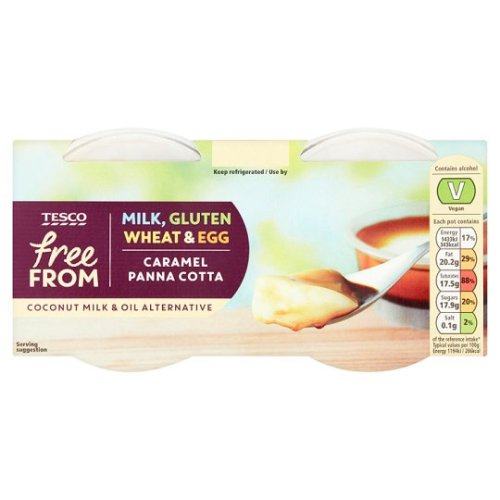 Tesco Free From 2 Caramel Panna Cotta 120G