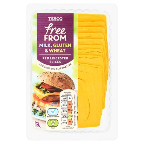 Tesco Free From Red Leicester Cheese Alternative 180G