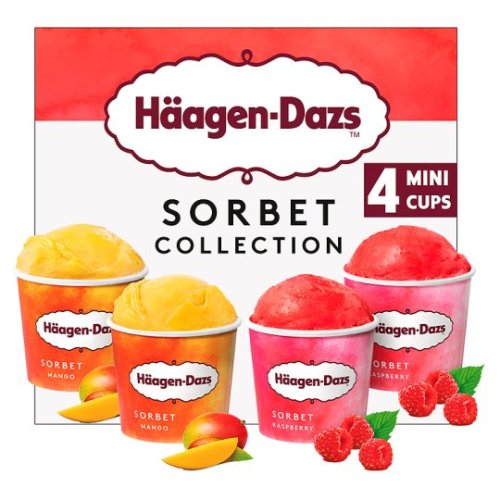Haagen Dazs Sorbet Collection Minicups 4X100ml