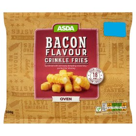 Asda Bacon Flavour Crinkle Fries My Vegan Supermarket