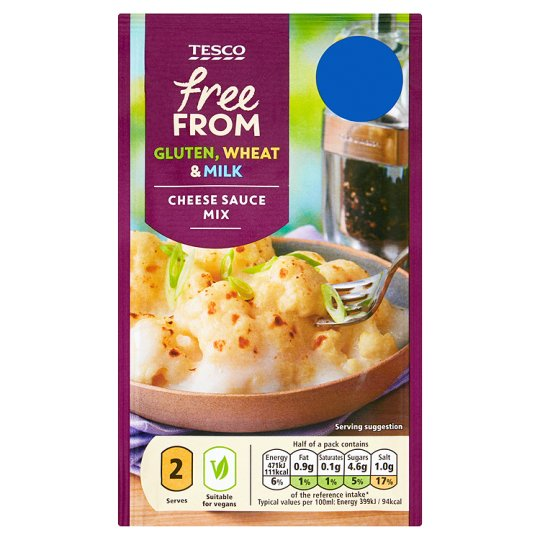 Tesco Free From Cheese Sauce Mix 36g My Vegan Supermarket