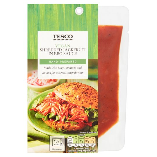 Tesco Jackfruit In Bbq Sauce 150g My Vegan Supermarket