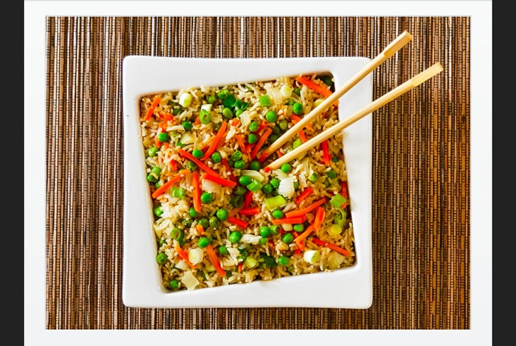 Easy Vegetarian Fried Rice Finally The Secret to Perfect Fried Rice Vegetarian Gluten Free #myvegetarianfamily