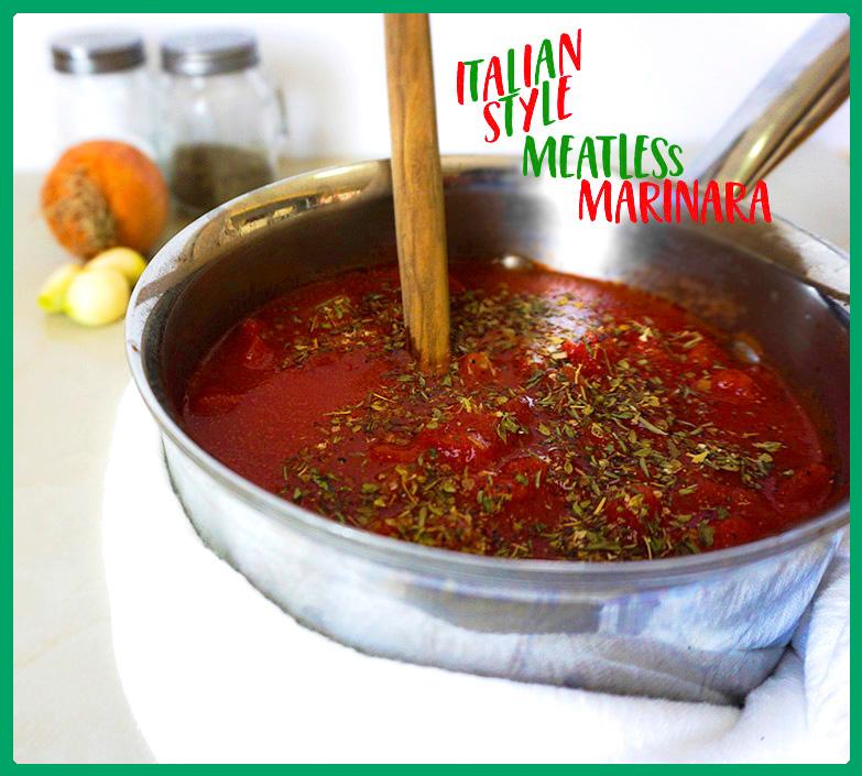 Meatless Italian Style Homemade Marinara Vegetarian Gluten free #myvegetarianfamily