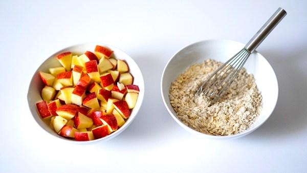 How to Make Healthy Apple Crisp GF Vegan