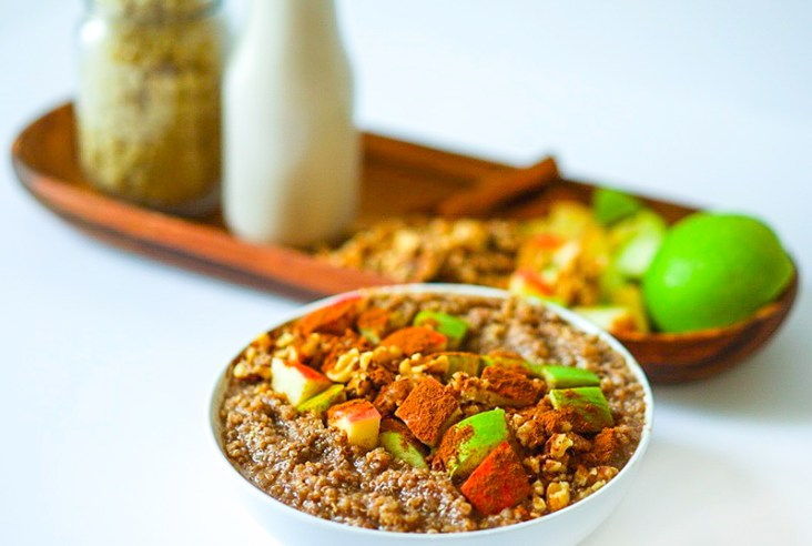 Apple Quinoa Breakfast Bowl Vegan GF #myvegetarianfamily
