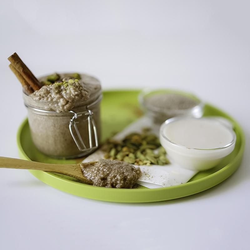 Chia Chai Pudding Pistachios #myvegetarianfamily