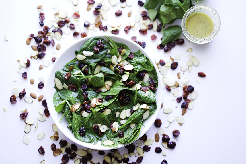 Cranberry Spinach Salad #myvegetarianfamily
