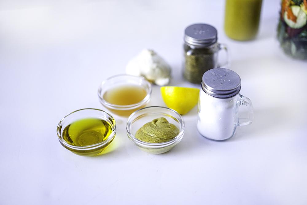 Easy Make Your Own Vegan Salad Dressing #myvegetarianfamily