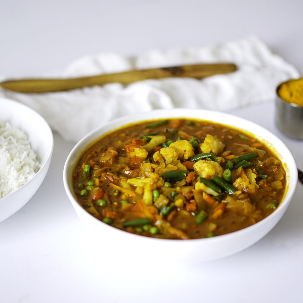 Homemade Indian Vegetable Curry Easy Delicious